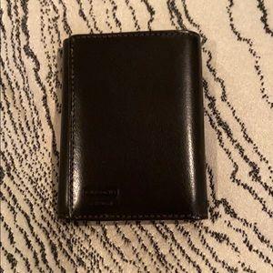 Men's black leather coach wallet